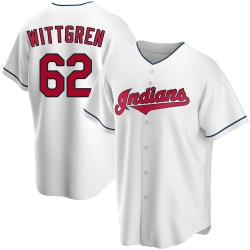 Nick Wittgren Cleveland Indians Youth Replica Home Jersey - White