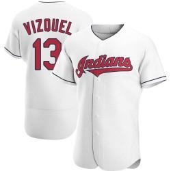 Omar Vizquel Cleveland Indians Men's Authentic Home Jersey - White
