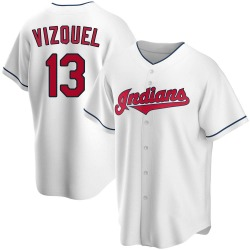 Omar Vizquel Cleveland Indians Youth Replica Home Jersey - White