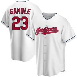 Oscar Gamble Cleveland Indians Men's Replica Home Jersey - White