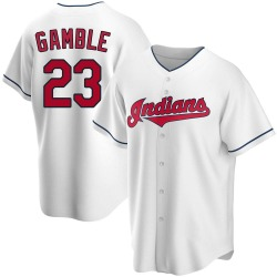 Oscar Gamble Cleveland Indians Youth Replica Home Jersey - White