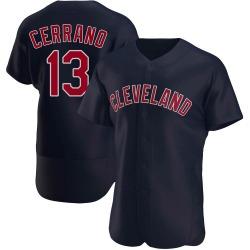 Pedro Cerrano Cleveland Indians Men's Authentic Alternate Jersey - Navy