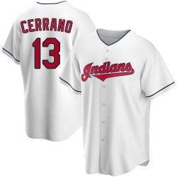 Pedro Cerrano Cleveland Indians Men's Replica Home Jersey - White