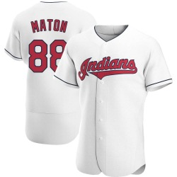 Phil Maton Cleveland Indians Men's Authentic Home Jersey - White