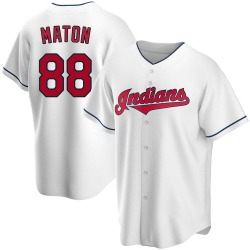 Phil Maton Cleveland Indians Youth Replica Home Jersey - White