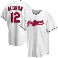 Roberto Alomar Cleveland Indians Men's Replica Home Jersey - White
