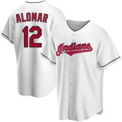 Roberto Alomar Cleveland Indians Youth Replica Home Jersey - White