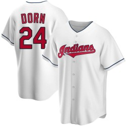 Roger Dorn Cleveland Indians Men's Replica Home Jersey - White