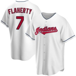 Ryan Flaherty Cleveland Indians Men's Replica Home Jersey - White