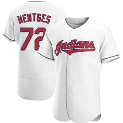 Sam Hentges Cleveland Indians Men's Authentic Home Jersey - White