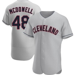 Sam Mcdowell Cleveland Indians Men's Authentic Road Jersey - Gray