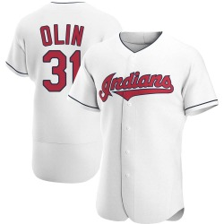 Steve Olin Cleveland Indians Men's Authentic Home Jersey - White