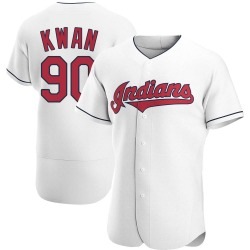 Steven Kwan Cleveland Indians Men's Authentic Home Jersey - White