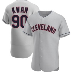 Steven Kwan Cleveland Indians Men's Authentic Road Jersey - Gray