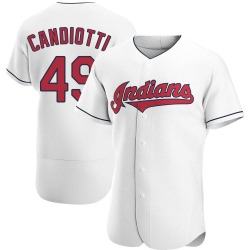 Tom Candiotti Cleveland Indians Men's Authentic Home Jersey - White