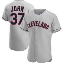 Tommy John Cleveland Indians Men's Authentic Road Jersey - Gray
