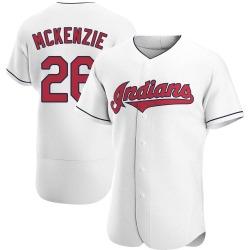 Triston McKenzie Cleveland Indians Men's Authentic Home Jersey - White