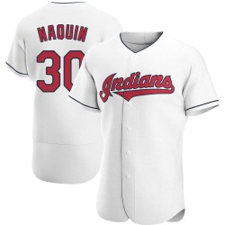Tyler Naquin Cleveland Indians Men's Authentic Home Jersey - White