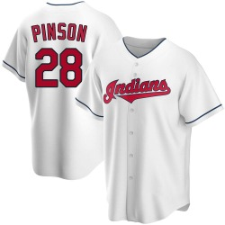 Vada Pinson Cleveland Indians Men's Replica Home Jersey - White
