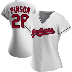 Vada Pinson Cleveland Indians Women's Authentic Home Jersey - White
