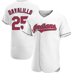 Vic Davalillo Cleveland Indians Men's Authentic Home Jersey - White