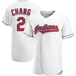 Yu-Cheng Chang Cleveland Indians Men's Authentic Home Jersey - White