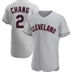 Yu-Cheng Chang Cleveland Indians Men's Authentic Road Jersey - Gray
