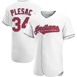 Zach Plesac Cleveland Indians Men's Authentic Home Jersey - White